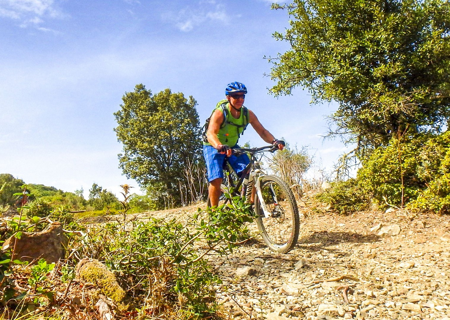 group-mountain-biking-italy-sardinia-experience-saddle-skedaddle.jpg - Sardinia - Coast to Coast - Italia Mountain Biking