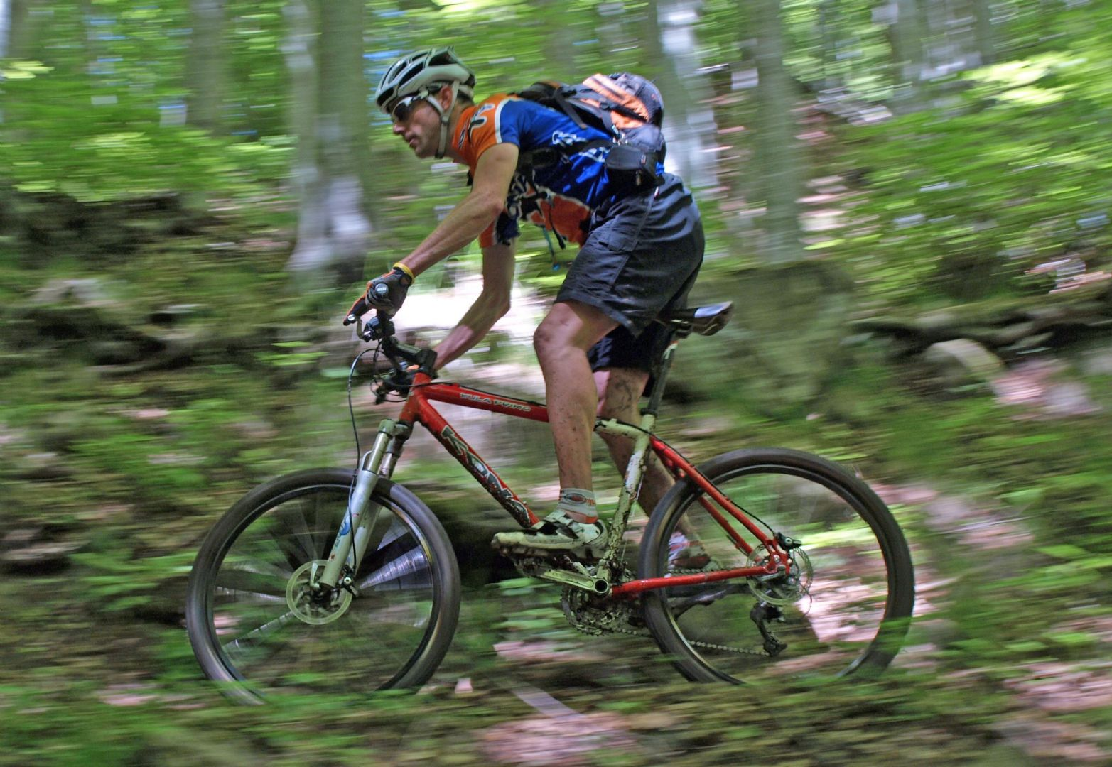 Jo at speed.jpg - Italy - Tuscany - Secret Apennine Trails - Italia Mountain Biking