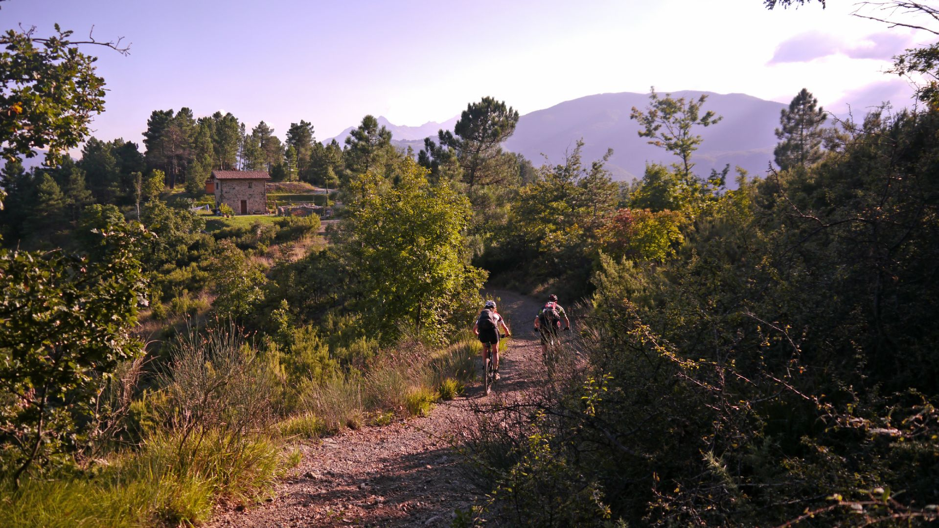 Towards the mountains.jpg - Italy - Tuscany - Secret Apennine Trails - Italia Mountain Biking