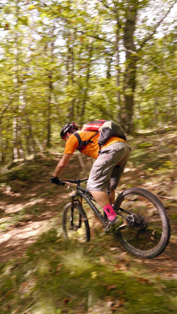 Colour clash.jpg - Italy - Tuscany - Secret Apennine Trails - Italia Mountain Biking