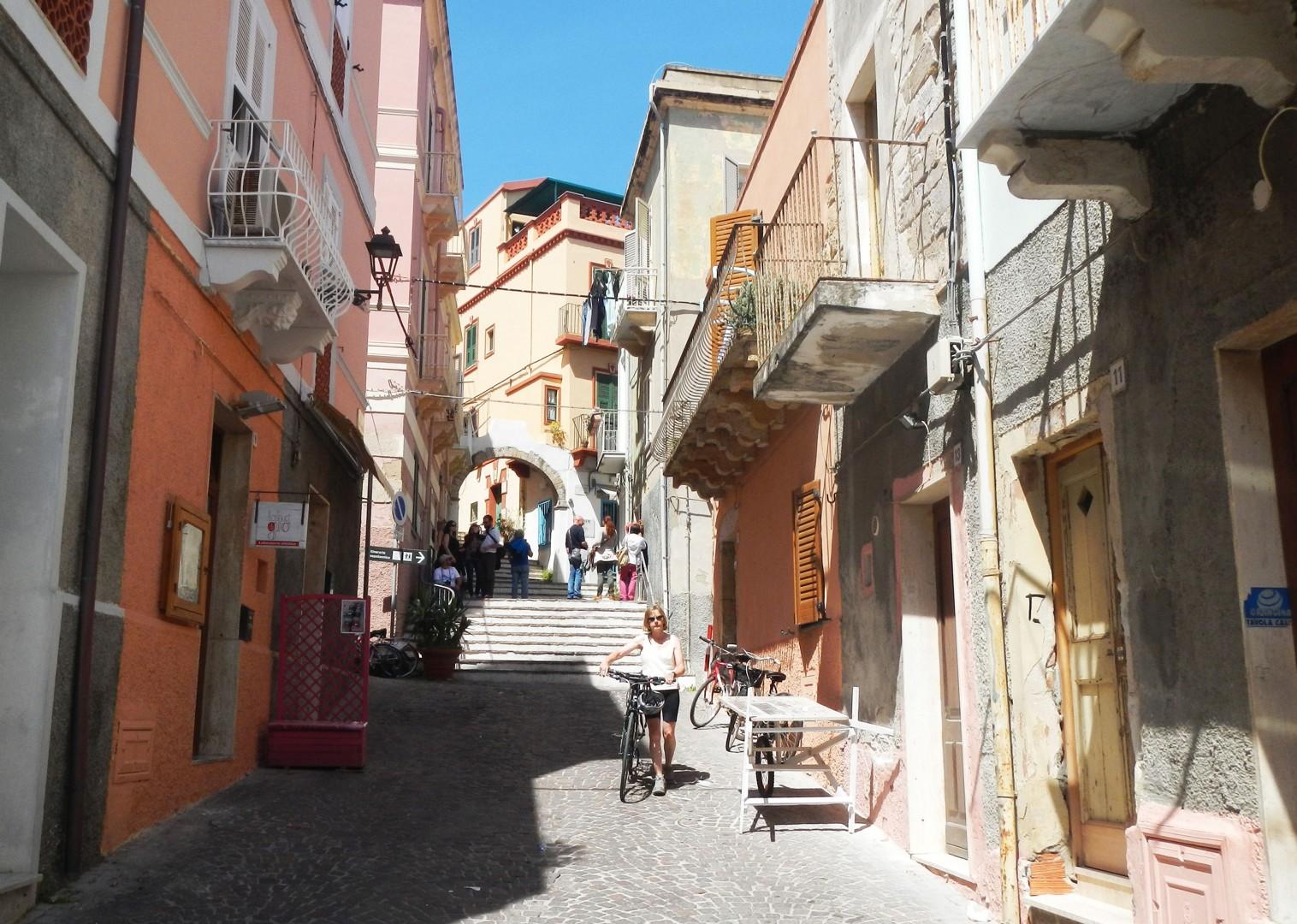 calaforte-san-pietro-town-sardinia.jpg - Italy - Sardinia - Island Flavours - Self-Guided Leisure Cycling Holiday - Italia Leisure and Family Cycling