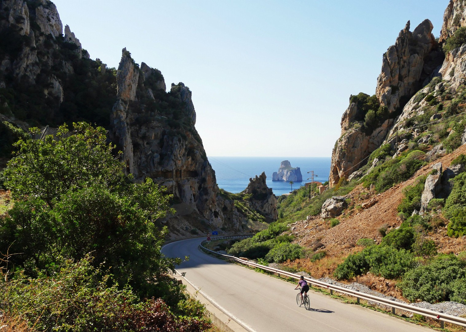 pan-di-zucchero-sea-cliffs-sardinia.jpg - Italy - Sardinia - Island Flavours - Self-Guided Leisure Cycling Holiday - Italia Leisure and Family Cycling