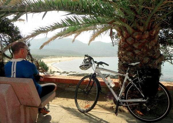 coastal-views-rest-stop-island-cycling-holiday.jpg - Italy - Sardinia - Island Flavours - Self-Guided Leisure Cycling Holiday - Italia Leisure and Family Cycling