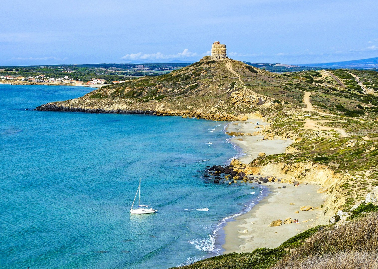 Spiaggia di Capo San Marco-2.jpg - Italy - Sardinia - Island Flavours - Self-Guided Leisure Cycling Holiday - Italia Leisure and Family Cycling