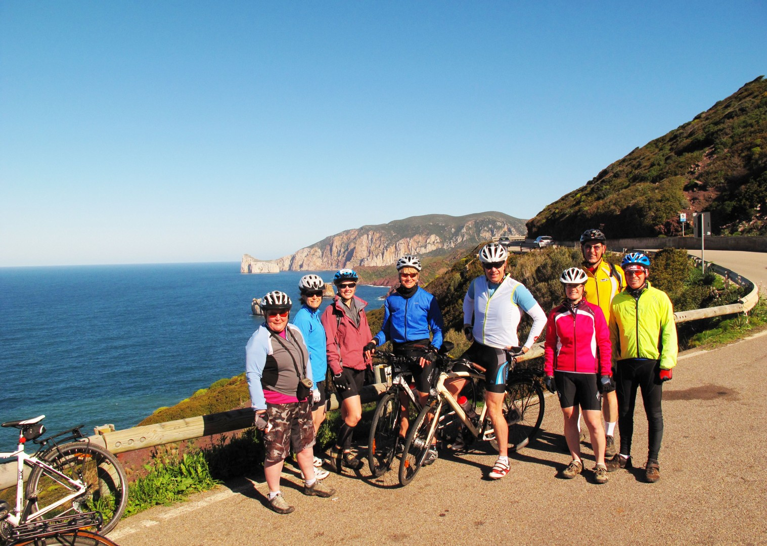 group-guided-cycling-holiday-italy-sardinia.jpg - Italy - Sardinia - Island Flavours - Guided Leisure Cycling Holiday - Italia Leisure and Family Cycling
