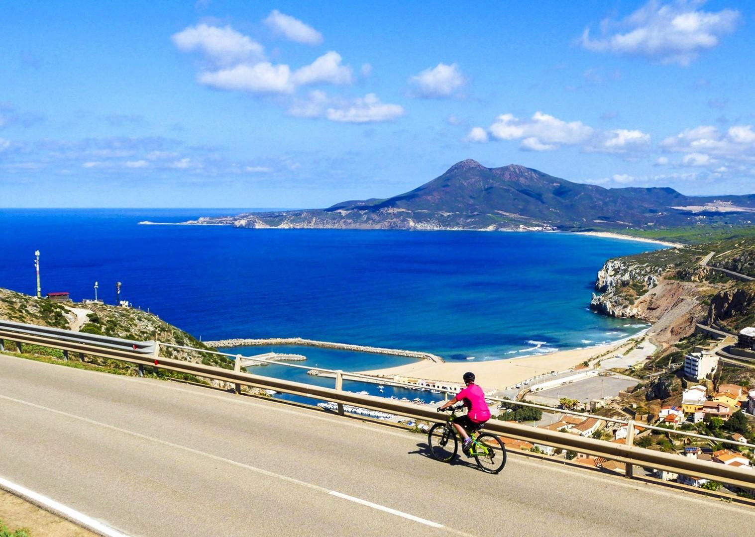 cycling-in-italy-leisure-scenery-sardinian-sea.jpg - Italy - Sardinia - Island Flavours - Guided Leisure Cycling Holiday - Italia Leisure and Family Cycling