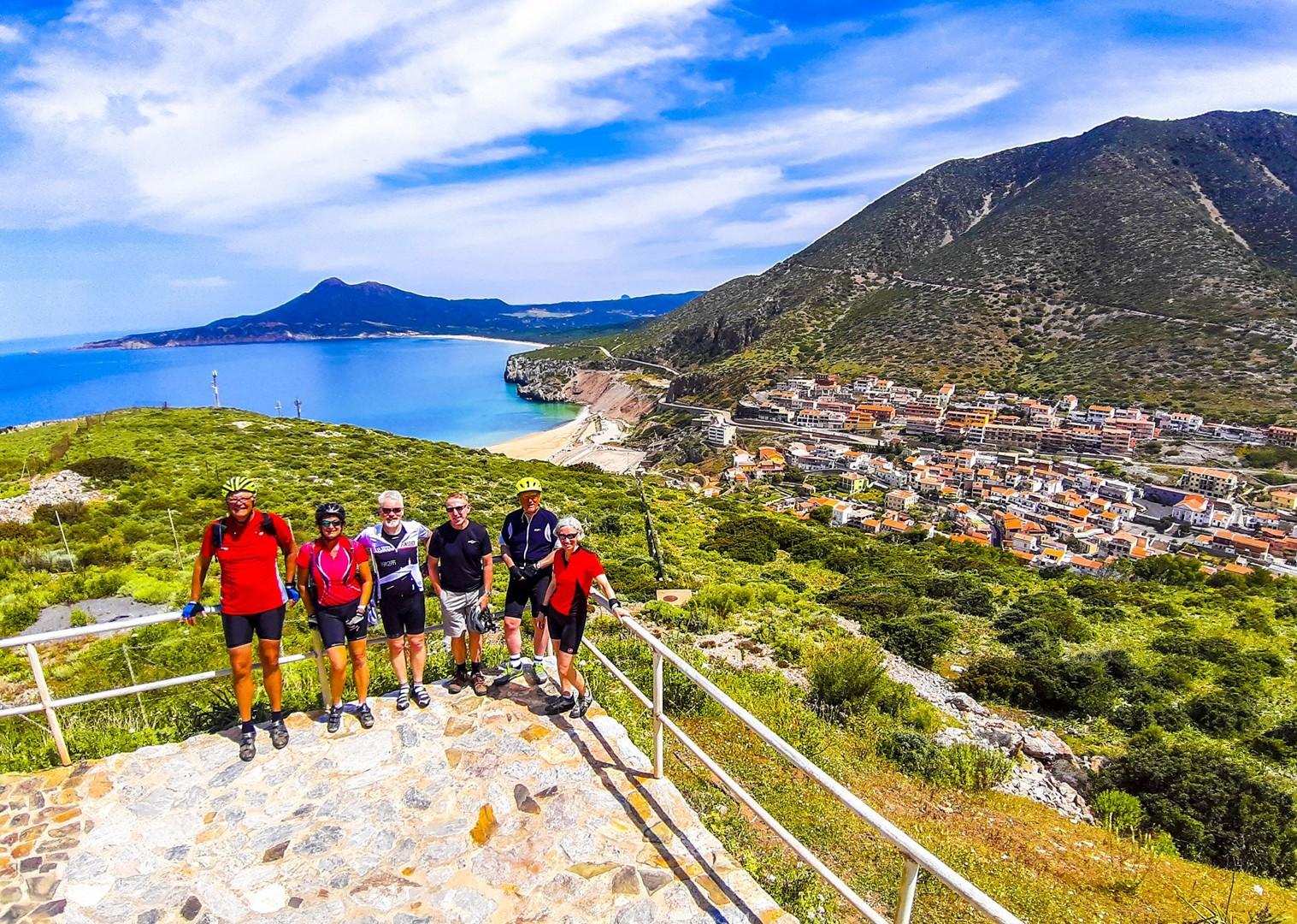 celebration-saddle-skedaddle-holiday-in-sardinia-leisure-cycling.jpg - Italy - Sardinia - Island Flavours - Guided Leisure Cycling Holiday - Italia Leisure and Family Cycling