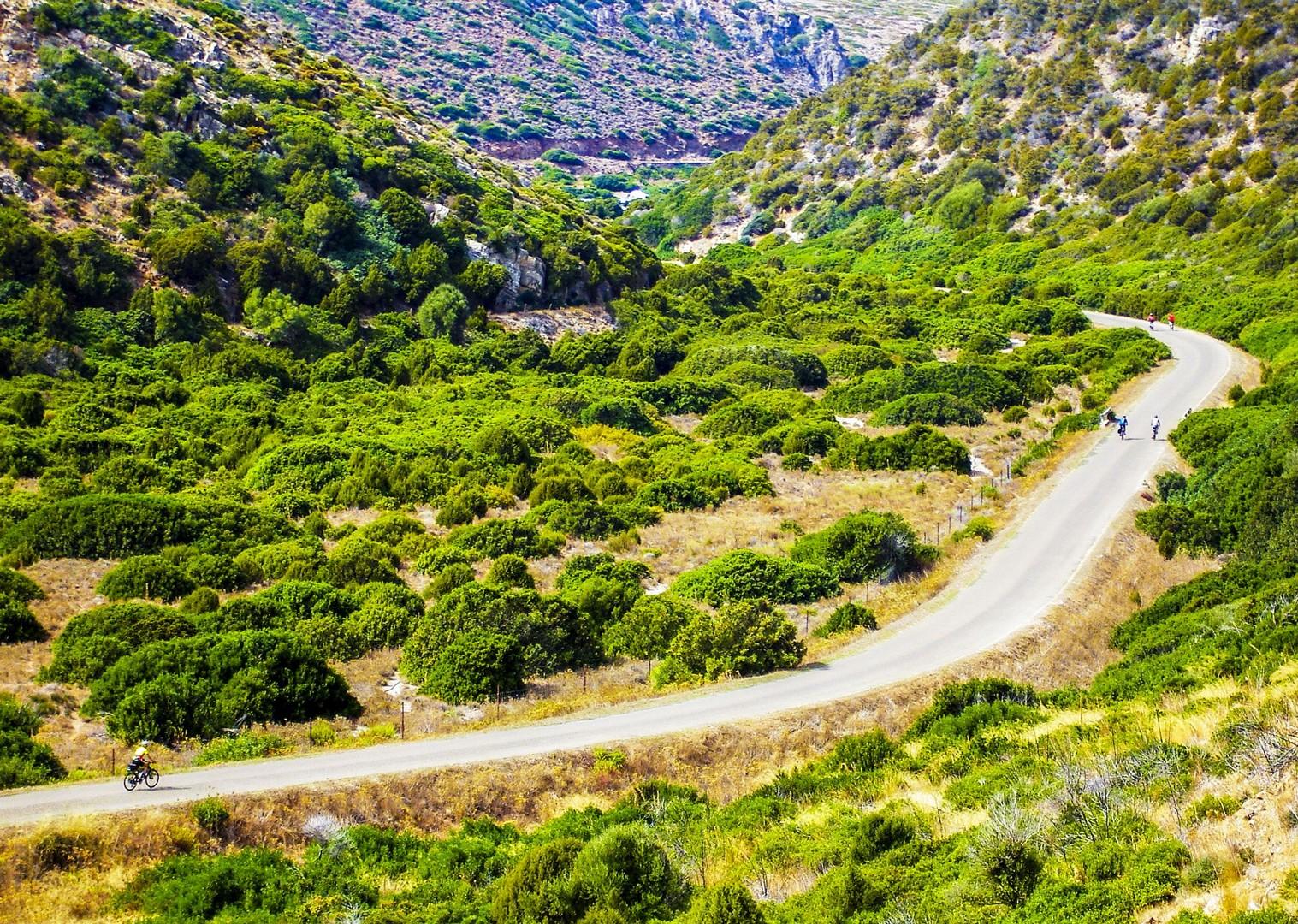cycling-through-sardinia-italy-guided-leisure-cycling-holidays-bikes.jpg - Italy - Sardinia - Island Flavours - Guided Leisure Cycling Holiday - Italia Leisure and Family Cycling