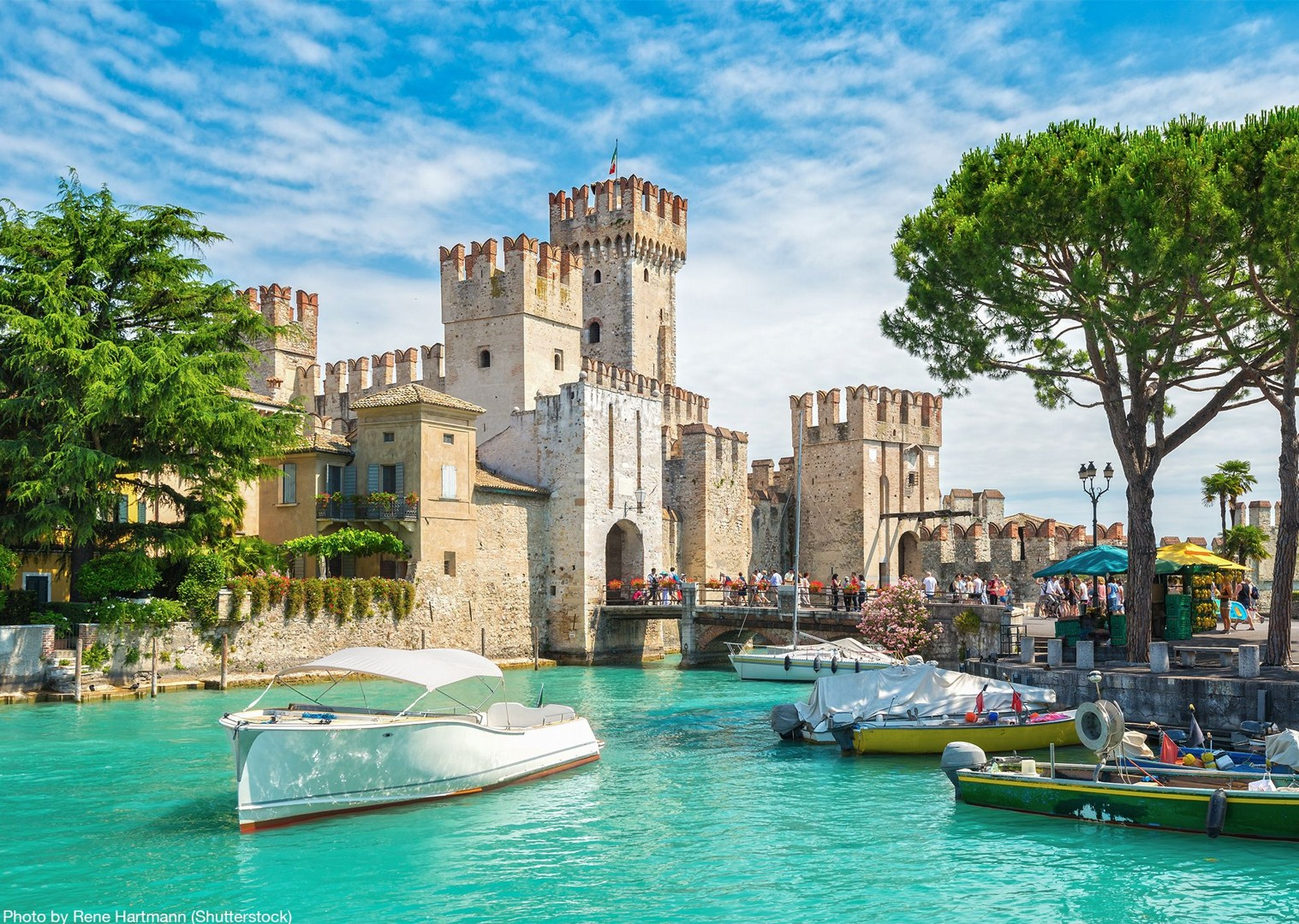 scaligero-castle-sirmione-italy-cycling-tour-self-guided-visit.jpg - Italy - Lake Garda to Venice - Self-Guided Leisure Cycling Holiday - Italia Leisure and Family Cycling