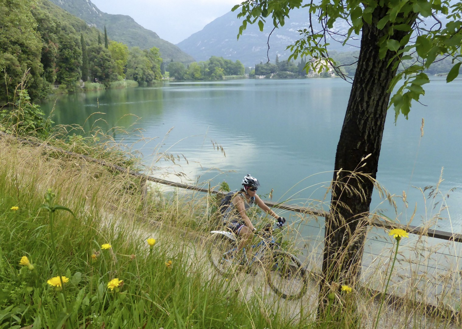 lake-garda-supported-family-cycling.jpg - Northern Italy - Gentle Via Claudia - Supported Family Cycling Holiday - Italia Leisure and Family Cycling