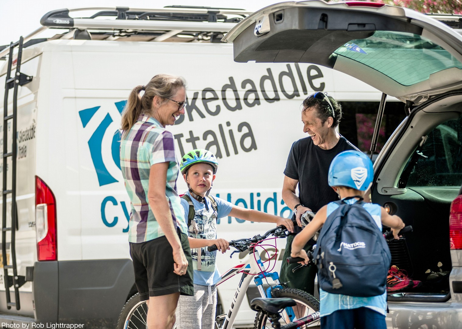 skedaddle-van-supported-italy-lake-garda.jpg - Northern Italy - Gentle Via Claudia - Supported Family Cycling Holiday - Italia Leisure and Family Cycling