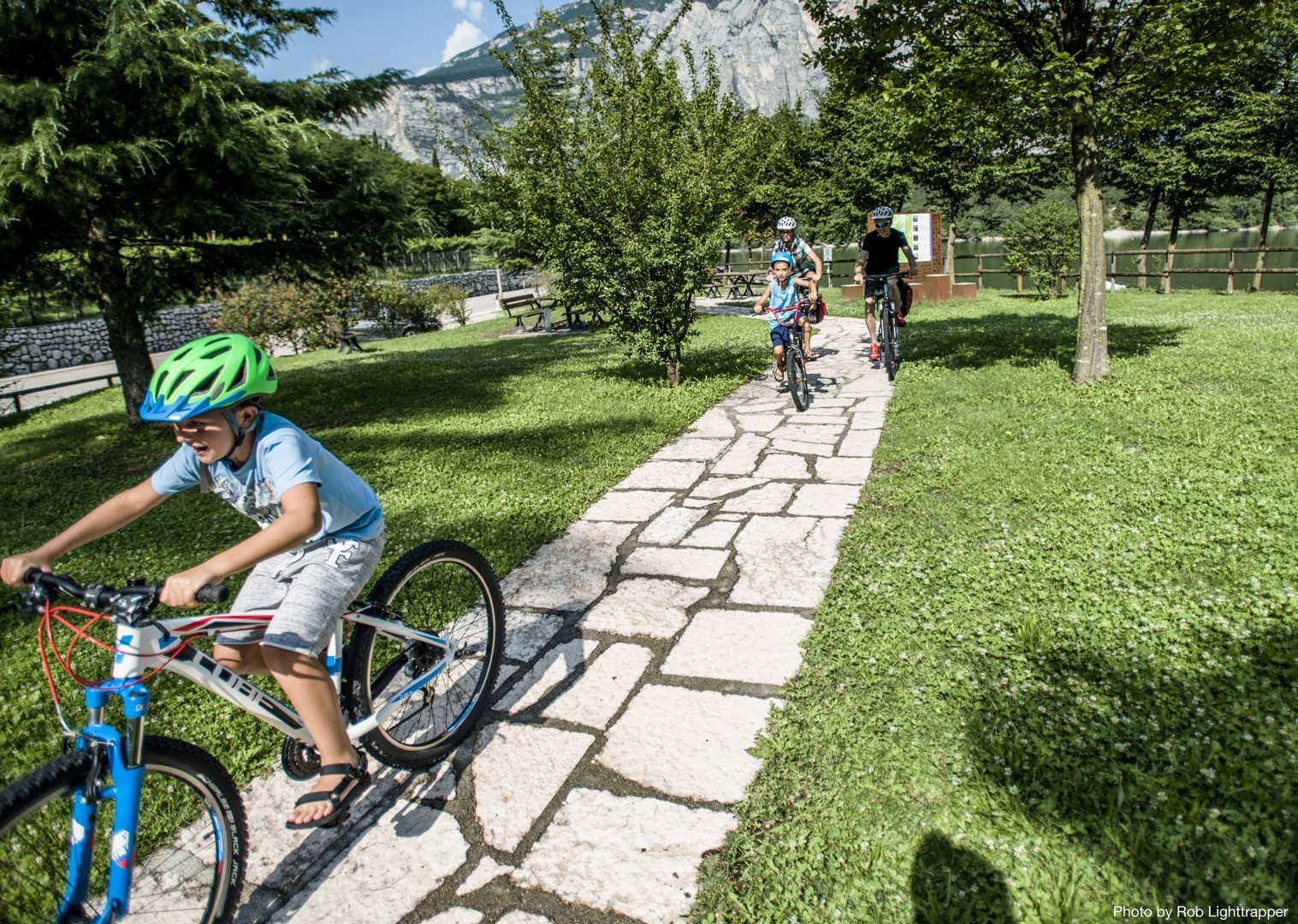 family-cycling-supported-italy-lake-garda.jpg - Northern Italy - Gentle Via Claudia - Supported Family Cycling Holiday - Italia Leisure and Family Cycling