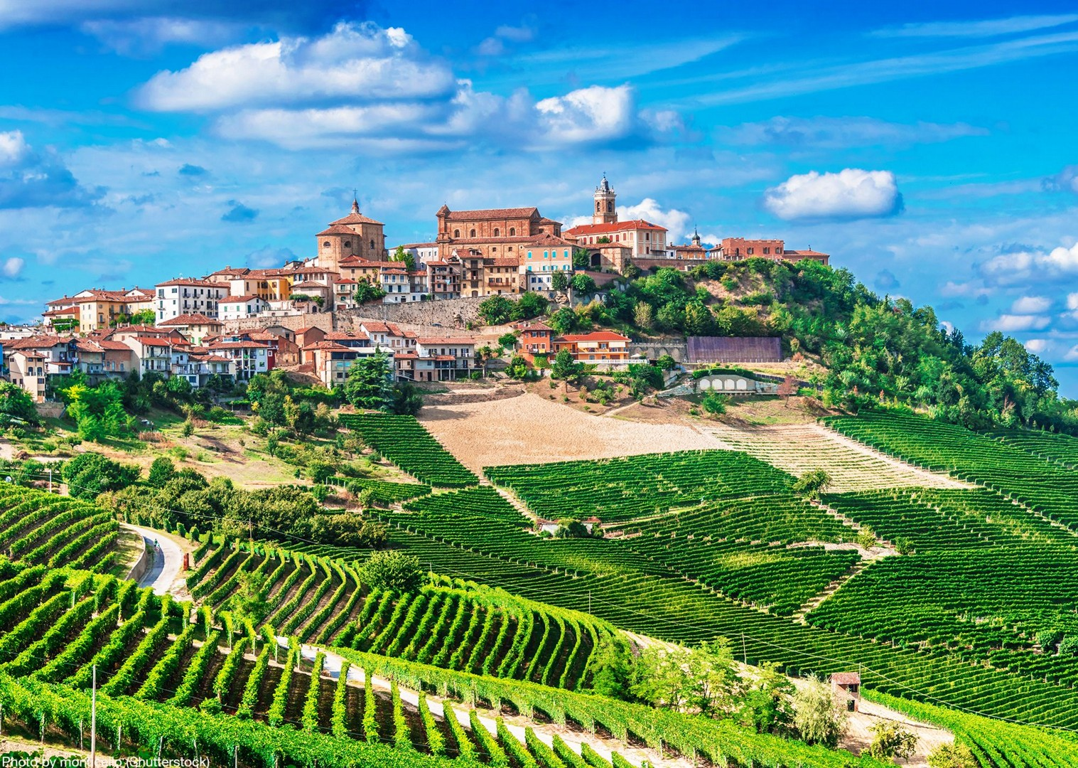 piemonte-italy-self-guided-cycling-holiday-explore-on-bikes-beautiful-towns.jpg - Italy - Piemonte - Vineyards and Views - Self-Guided Leisure Cycling Holiday - Italia Leisure and Family Cycling