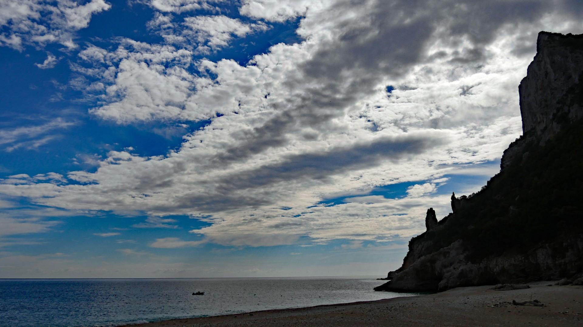 Cala Gonone - sea cliff silhouette .jpg - Sardinia - Wilderness Blue Sea Kayaking - Kayaking