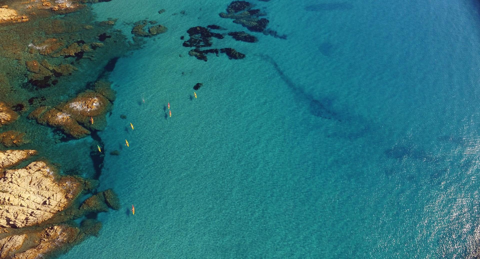 Spiaggia sa Curcurica - sea kayaking aerial shot1.jpg - Sardinia - Wilderness Blue Sea Kayaking - Kayaking