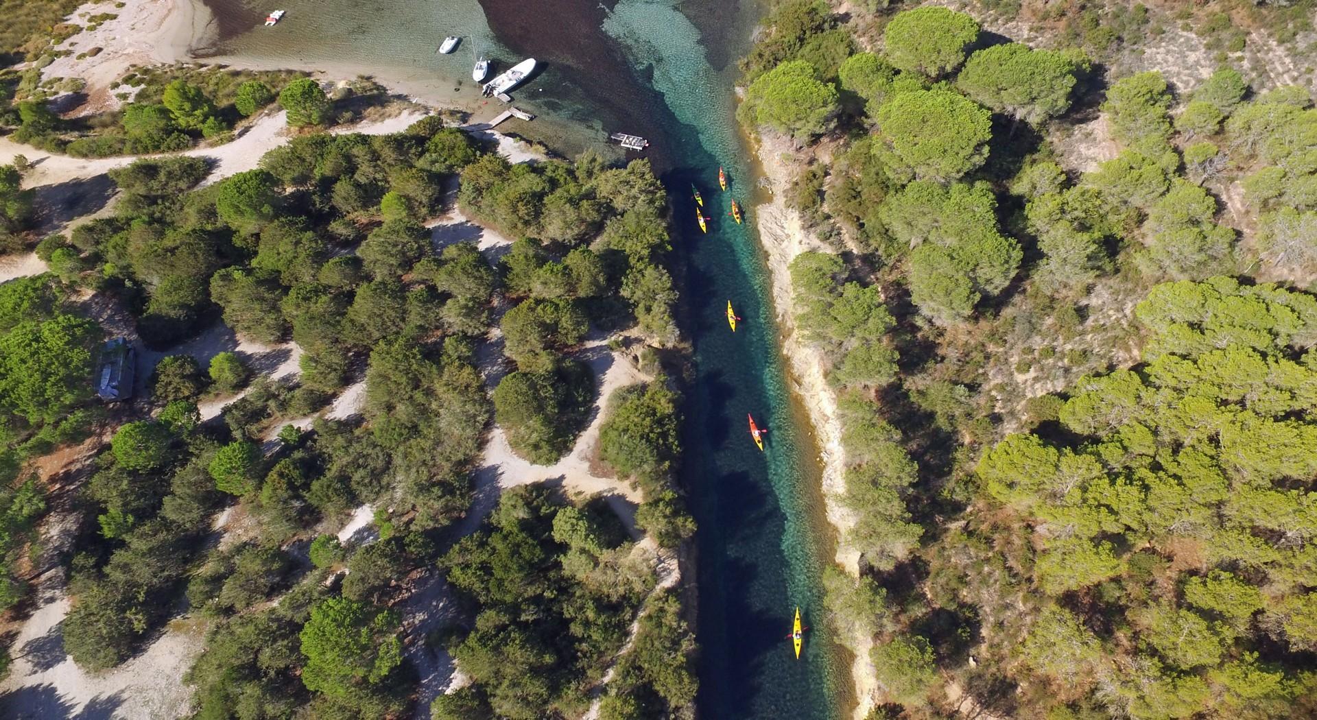 Spiaggia sa Curcurica - sea kayaking aerial shot4.jpg - Sardinia - Wilderness Blue Sea Kayaking - Kayaking