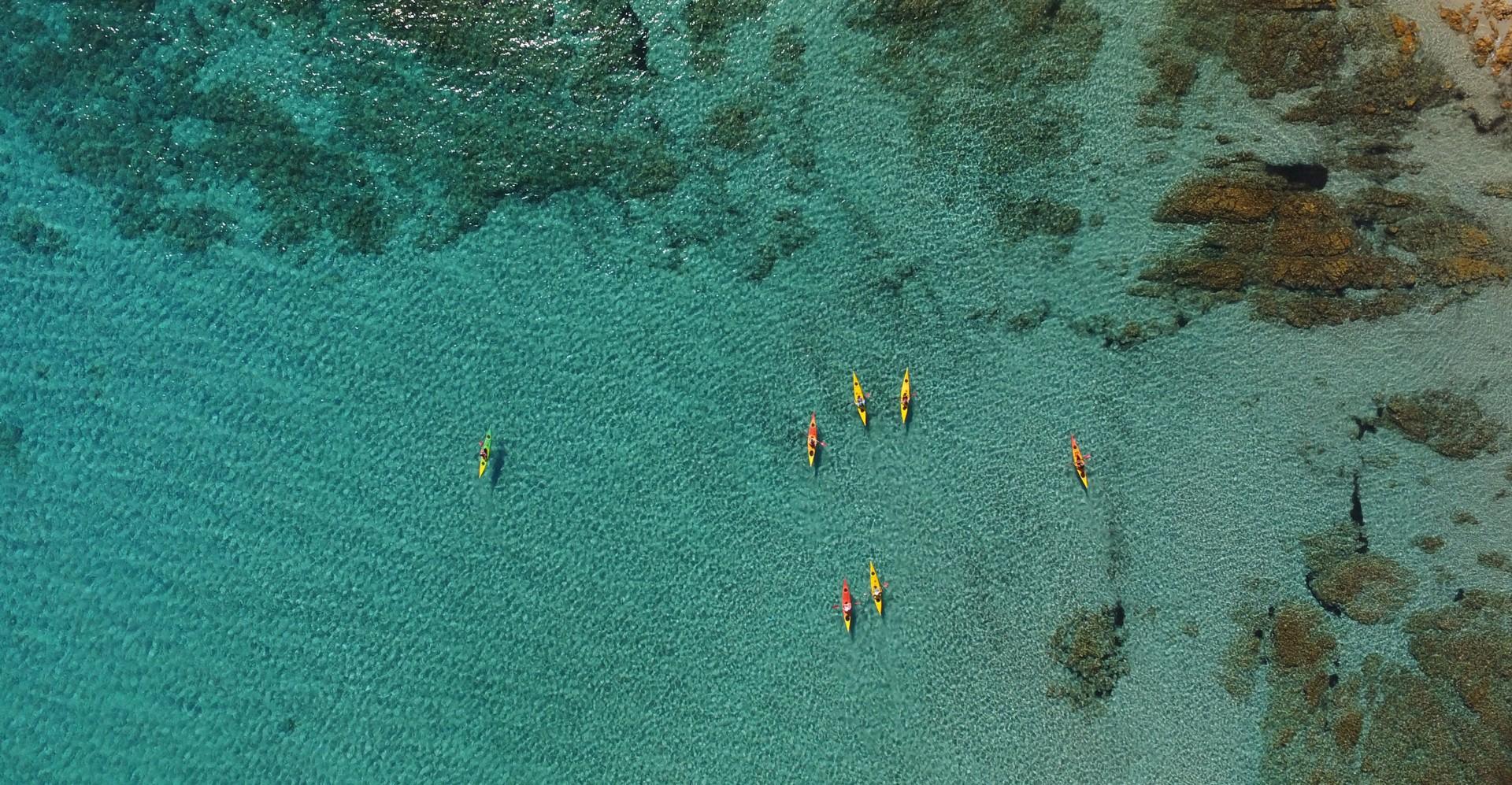Spiaggia sa Curcurica - sea kayaking aerial shot5.jpg - Sardinia - Wilderness Blue Sea Kayaking - Kayaking