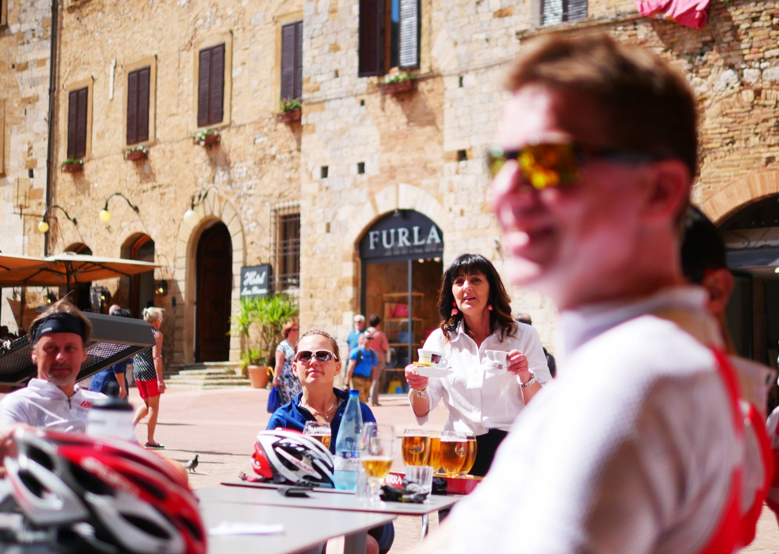 coffee-beer-rest-italy-road-cycling.jpg - Italy - Tuscany Tourer - Self Guided Road Cycling Holiday - Italia Road Cycling