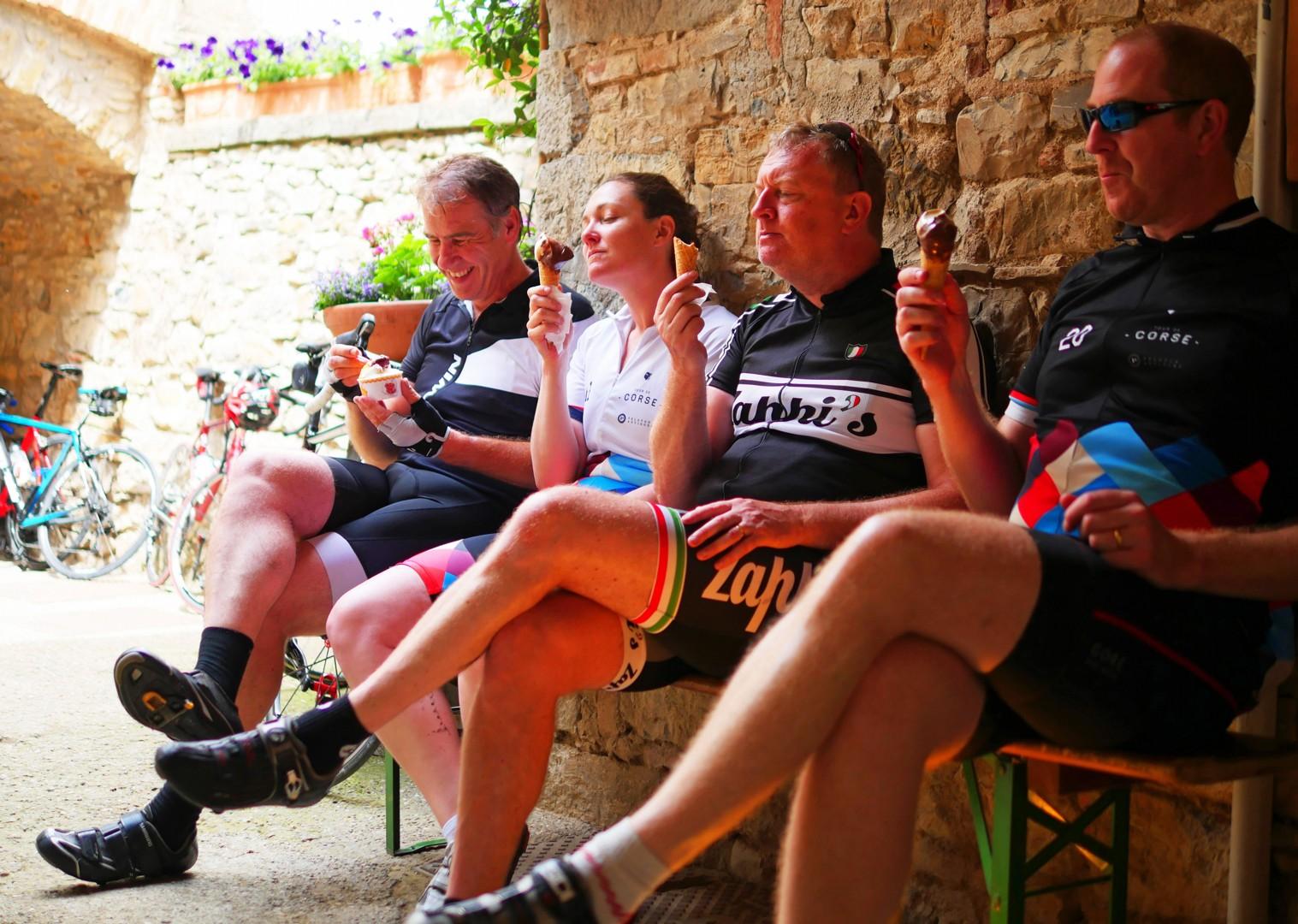 team-gelato-italy-tuscany-cycling-holiday.jpg - Italy - Tuscany Tourer - Self Guided Road Cycling Holiday - Italia Road Cycling