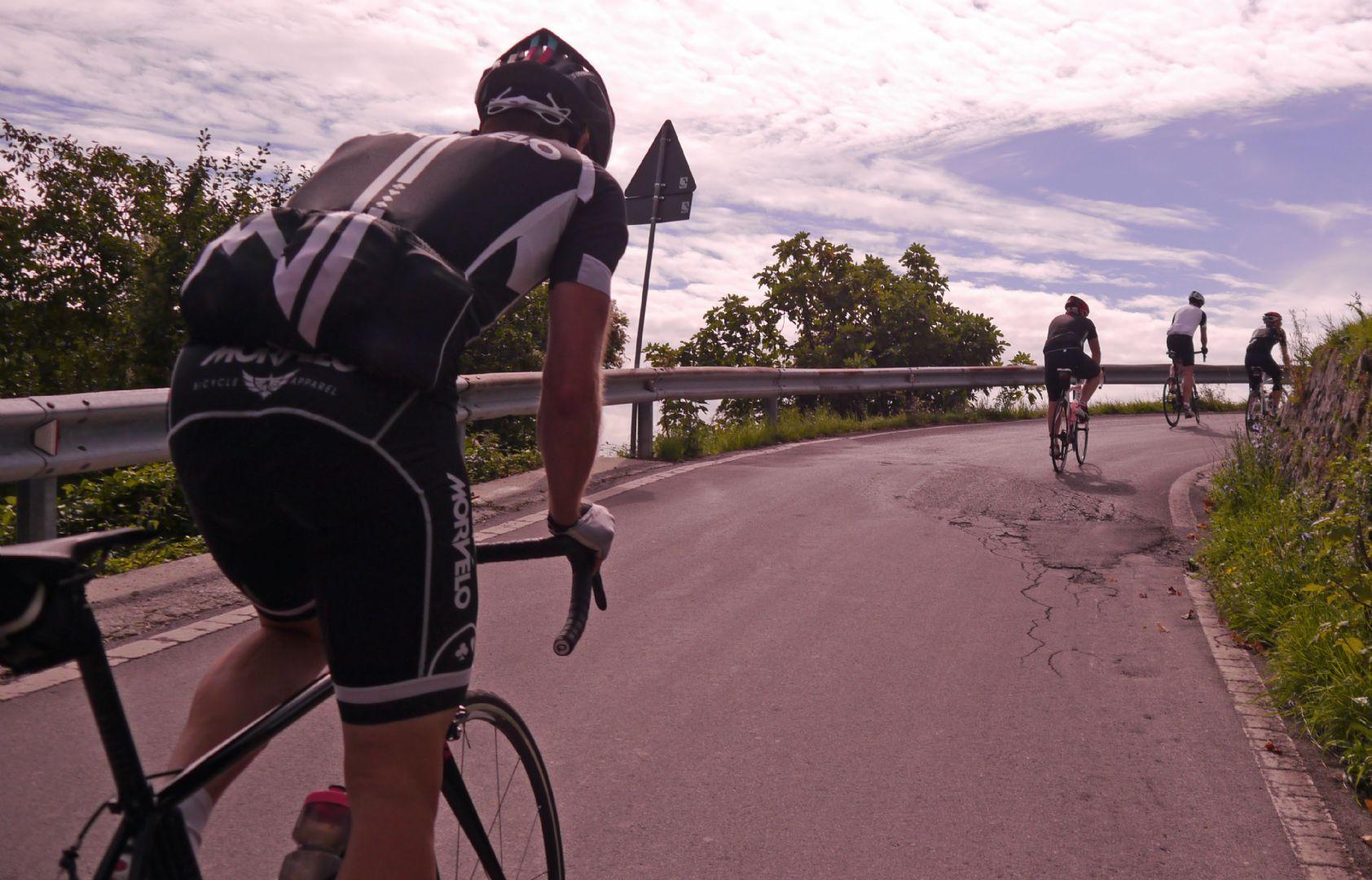 Chasing down the pack.jpg - Italy - Garfagnana - The Mountains of Tuscany - Italia Road Cycling