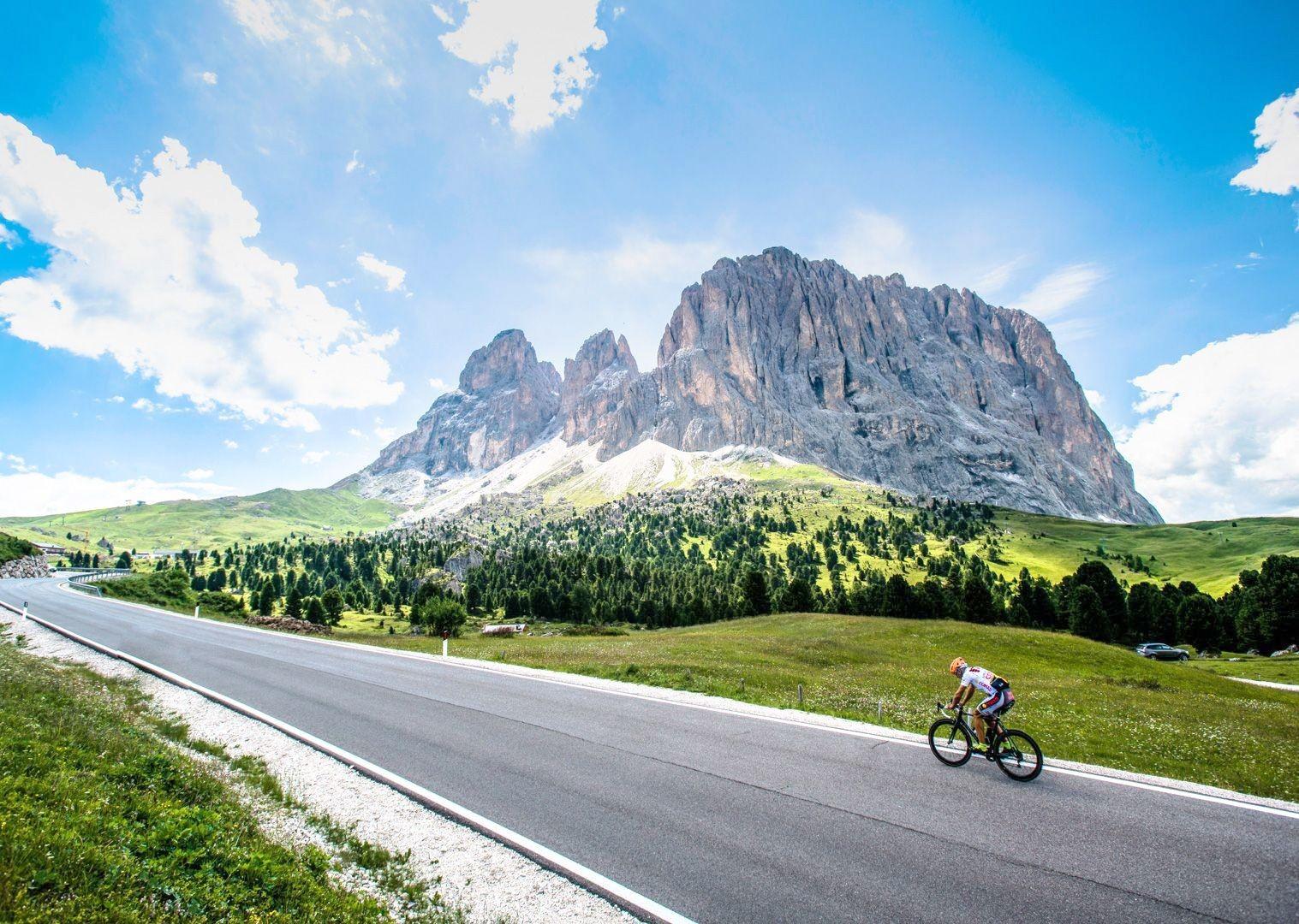 stunning-switzerland-italy-mountain-scenery-cycling-holiday-road.jpg - Italy - Raid Dolomiti - Guided Road Cycling Holiday - Italia Road Cycling