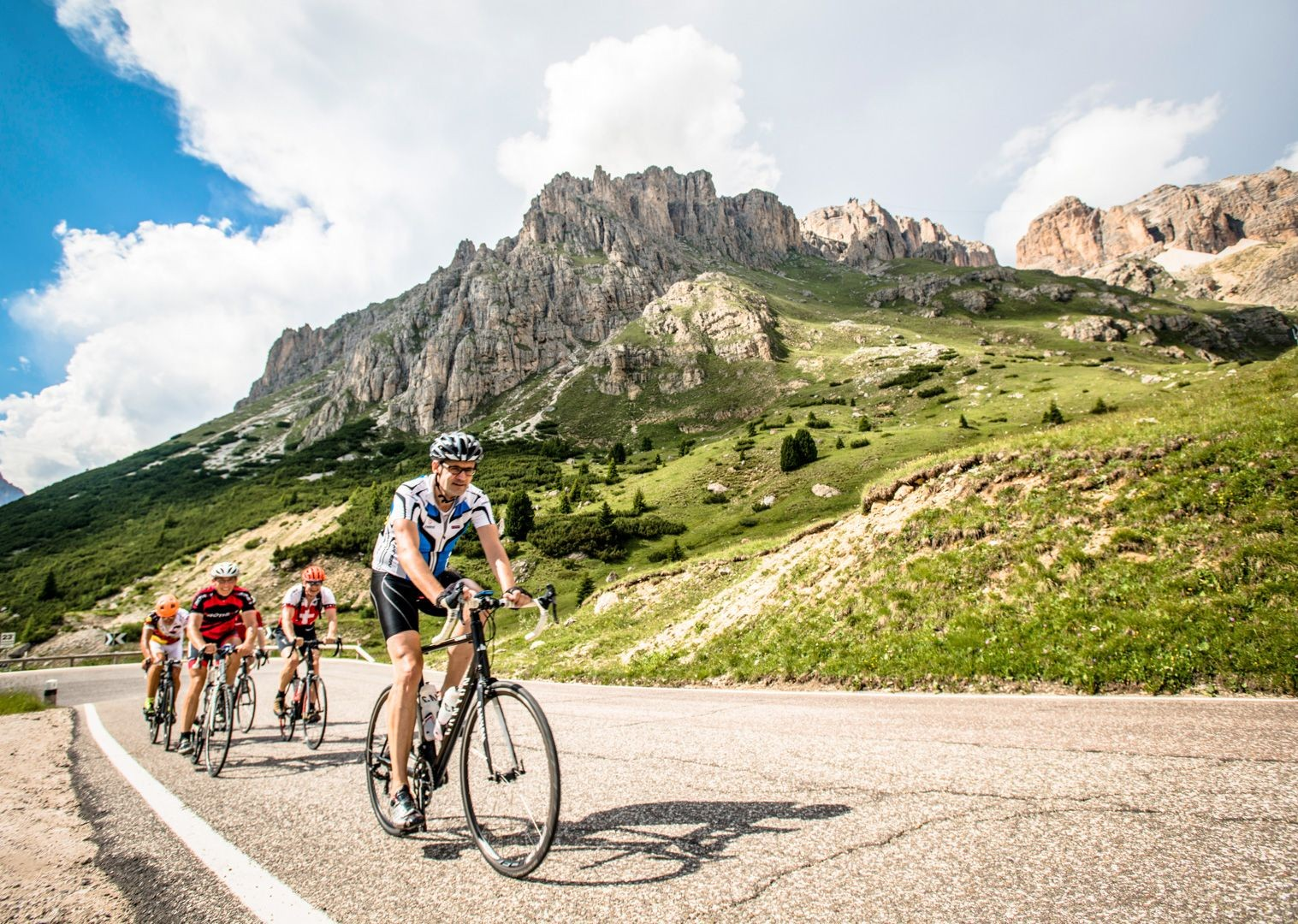 challenging-climbs-italian-dolomites-road-bike-skedaddle.jpg - Italy - Italian Dolomites - Guided Road Cycling Holiday - Italia Road Cycling