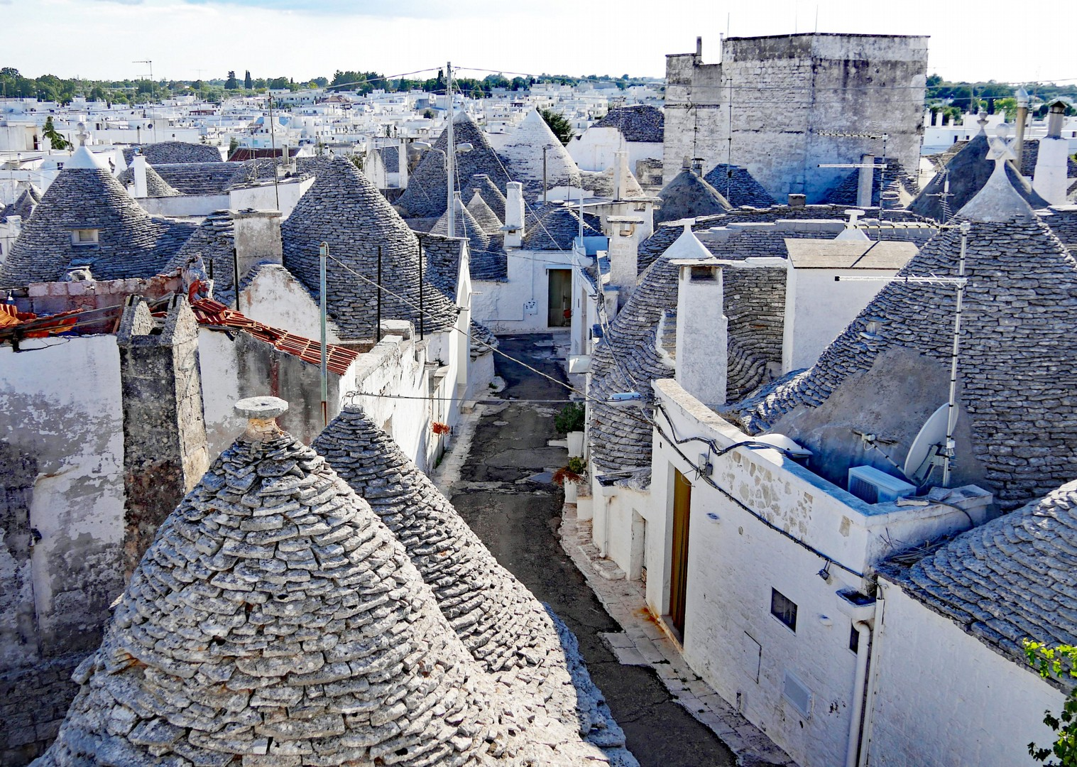 trulli-rooftop-view-alberobello-road-cycling-trip.jpg - Italy - Grand Traverse - South to North (22 days) - Guided Road Cycling Holiday - Italia Road Cycling