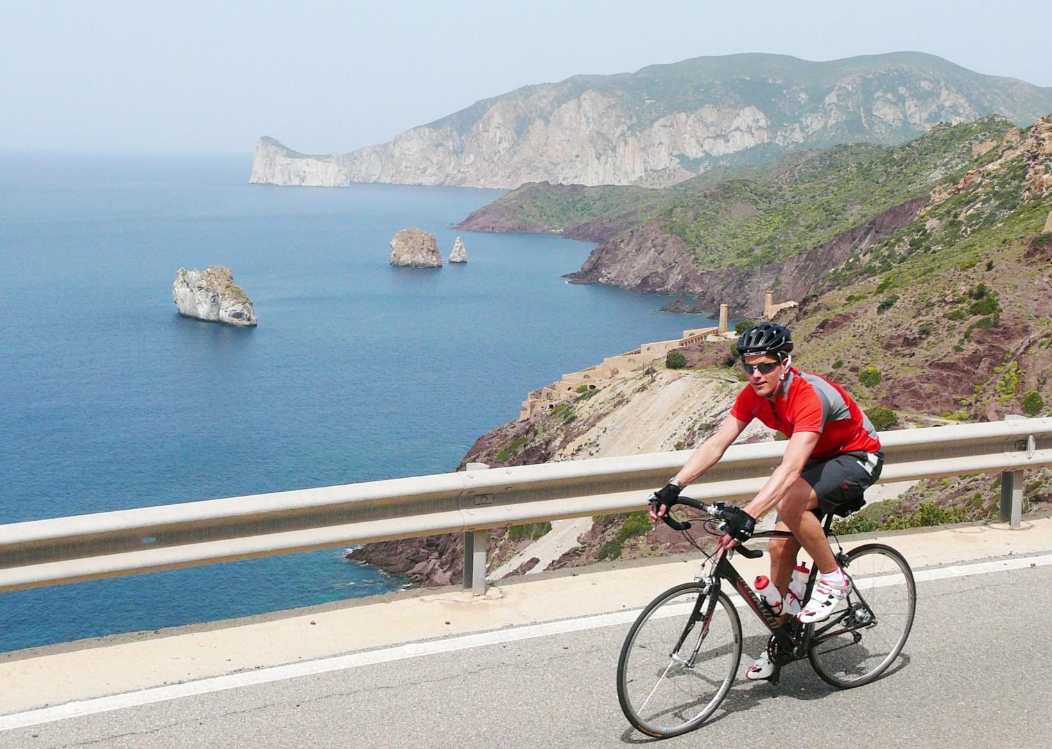 Sardinia-Coastal-Explorer-Self-Guided-Road-Cycling-Holiday-coastal-riding.JPG - Italy - Net Trade Rate - Coastal TranSardinia - Self-Guided Road Cycling Holiday - Italia Road Cycling