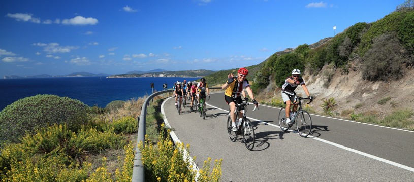 A coastal road cycling holiday winding down the Italian island of Sardinia. Famed as Italy's most exotic island, it is blessed with a fantastic network of well surfaced and car free roads and you'll be assured of some great cycling.